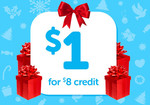 Pay $1 for $8 Grabone Credit to Spend by December 31st @ Grabone