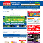 Free Shipping On All Fragrance Orders (No Min Spend) at Chemist Warehouse