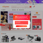 AliExpress Coupons for New Social Media Users. $4 - $5.85NZD