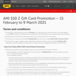 Bonus $50 Z Gift Card with a New Comprehensive Car Insurance Policy @ AMI