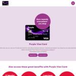 Purple Visa Card - $55 Establishment Fee Waiver + $20 Bonus Purple Dollars ($55 Annual Fee)