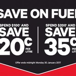 20c off per litre Fuel for $100 Spend & 35c off per litre Fuel for $200 Spend @ New World and PAK'nSAVE (29/1 + 30/1)