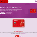 Warehouse Money Credit Card -Now $0 Annual Fee + 5% off Warehouse Purchases