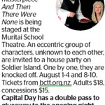 Win a Double Pass to And Then There Were None from The Dominion Post (Wellington)