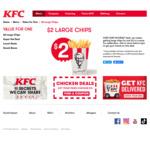 $2 Large Chips @ KFC