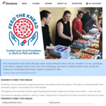 Free Hot Meal via Nomination @ Domino's (for Those in Need)