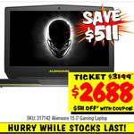 Alienware 15 i7 Gaming Laptop $2688. Save $511 @ JB Hi-Fi