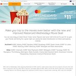 $11 Movie Ticket, Drink and Popcorn @ Event Cinemas and Rialto with Mastercard Wednesdays