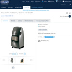 DeLonghi Gas Heater $209.99 ($299.99) Save 30% & Last Day of 50% off Oil Heaters