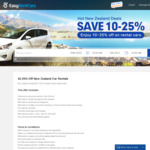 10-25% off New Zealand Car Rentals @ EasyRentCars