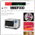 Win a De'Longhi MultiOven from Mindfood