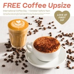 Free Coffee Upsize at Coffee Club on 1st October before 11am