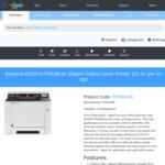 Kyocera ECOSYS P5026cdn A4 Colour Laser Printer $156.54 incl. shipping (was $423.68) @ Doolz