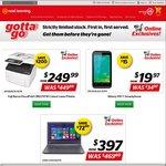 "Toshiba 14"" A4 Laptop $397. 4"" Skinny Phone $19. Fuji Colour Laser Printer $249 @ Noel Leeming"