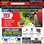 Spend $120 & Get $20 off Plus Free Freight @ Supercheap Auto