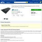 Corsair Raptor K40 Gaming Keyboard $49 Delivered (Save $131 off RRP) @Elive