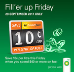 Save 10c/Litre on Fuel at BP (Min Spend $40) @ AA Smartfuel (Friday 29/9)