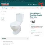 Toilet - Shaw & Mason $40 @ Bunnings