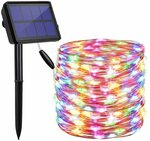 Solar Outdoor Fairy Lights 20m Warm White ~ NZ $18.14 or Rainbow ~ NZ $17.29 Delivered @ Findyouled on Amazon AU