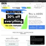 20% off Everything (Including Sale Items) at ASOS