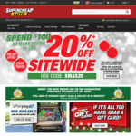 20% off Sitewide ($100 Minimum Spend) @ Supercheap Auto