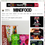 Win 1 of 2 oob Organic Prize Packs from Mindfood