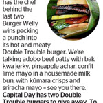 Win 1 of 2 Double Trouble Burgers from The Dominion Post (Wellington)