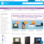 Warehouse Stationery - $5 off Every $50 You Spend on Technology (Online Only)