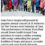 Win a Double Pass to See Gale Force Gospel from The Dominion Post (Wellington)