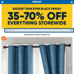 Galaxy Denver Eyelet Curtains Pair 120 x 213 cm (3 Colours Avaliable) - $10 (Was $129) @ Briscoes Black Friday