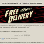 Free Delivery on Orders over $25 at Hell Pizza on Sunday