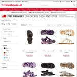 $6 Sandals/Jandals Delivered Today Only (Save up to $33) @ The Warehouse