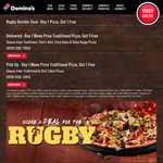 Domino's Rugby Decider Deal - Buy 1 Pizza, Get 1 Free