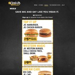 Carl's Jr July Coupons: Big Carl + Jr Carl $9.90, Carl's Catch + Sm Fries + Sm Drink + Sundae $10.90 + More