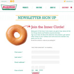 Free Doughnut & Free 4 Pack Birthday Doughnuts from Krispy Kreme (Newsletter Sign Up Required)