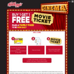 Buy 1 Get 1 Movie Ticket with Kellogg's Movies Promotion