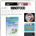 Win 1 of 3 Marzena Large Wax Strips (12 packs) from Mindfood