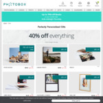40% off Storewide & Up to 70% off Photobooks (A3 Personalised Photo Book 160pgs $127.49 [Save $297.46]) @ PhotoBox
