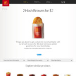 2 Hash Browns for $2 @ McDonald's