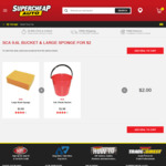 SCA 9.6 Litre Bucket & Large Sponge $2 Delivered @ Supercheap Auto