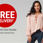 The Warehouse - Free Shipping until 22 October 2018 (Excludes Oversized Items)