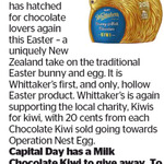 Win a Whittaker's Milk Chocolate Kiwi from The Dominion Post