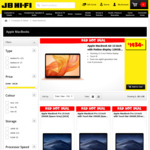 "Apple Mac ""Cost + GST"" sale (MacBook Air 13"" 128GB $1446) @ JB Hi-Fi"