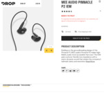 MEE Audio Pinnacle P2 IEM Headphones US$31 Delivered / $49 NZD (Normally US$100) @ Drop