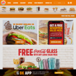 Free Coca Cola Glass with Any Large Value Meal @ Burger King