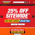Supercheap Auto: 25% off Storewide (Online)