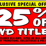 25% off DVD's @ JB Hi-Fi (Instant Deals Coupon)