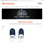 Macpac Halo down Jacket $99.99 (+ $5 Delivery) @Macpac