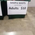 $10 Sample Rugby Boots @ CCC Outlet Dressmart (Hornby)