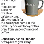 Win an Emporio Prize Pack (Mug and 500g of Coffee) from The Dominion Post